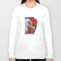 chicken Long Sleeve T-shirts featuring Chicken by Jeanne Hollington