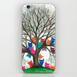 Connecticut Whimsical Cats in Tree iPhone Skin