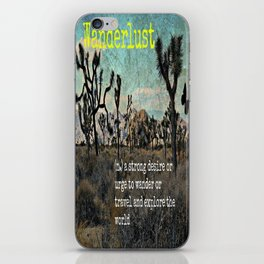 Wanderlust In The Wild Travel Quote iPhone Skin