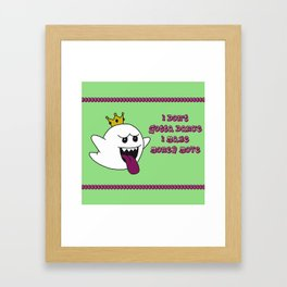 King Cardi Boo Framed Art Print