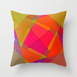 0207 Construction by colors ... Throw Pillow