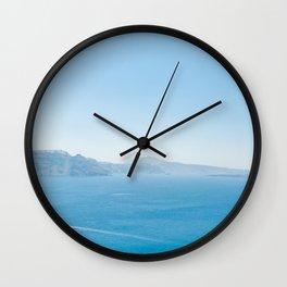 Aegean sea - Santorini views Wall Clock