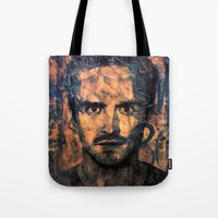 jesse pinkman Tote Bags featuring Jesse Pinkman by Sirenphotos