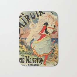 French belle epoque mime theatre advertising Bath Mat