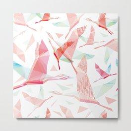 Shadoof, shadoof background pattern, shadoof in flight, wildlife bird Metal Print