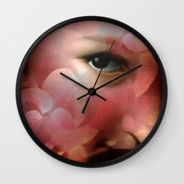 """Lady in autumn rose"" Wall Clock"
