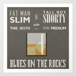 Blues On The Rocks Art Print