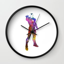 Iron man 01 in watercolor Wall Clock