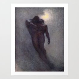 """How calm, how solemn it grows to ascend the atmosphere of lovers"" (Margaret C. Cook, 1913) Art Print"