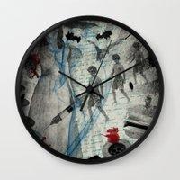 bathroom Wall Clocks featuring IN MY BATHROOM by zzglam
