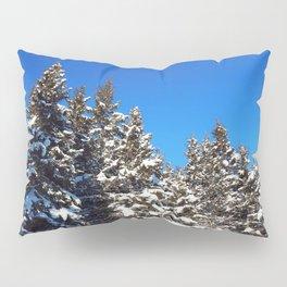Winter forest roadside Pillow Sham