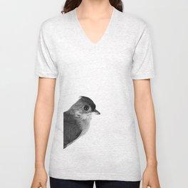 Natural History Bird Photograph - Tufted Titmouse Unisex V-Neck