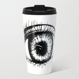 Looking In #1 - Original sketch to digital art Travel Mug