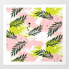 Palm pink texture Art Print