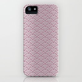 Traditional Japanese pattern SAME-SEIGAIHA iPhone Case