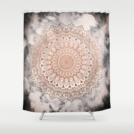 ROSE NIGHT MANDALA Shower Curtain