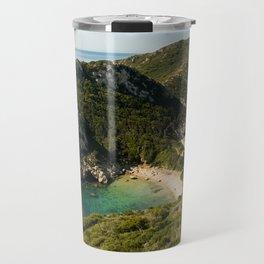 Port Timoni Beach Travel Mug