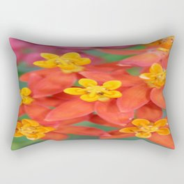 Succulent Red and Yellow Flower II Rectangular Pillow