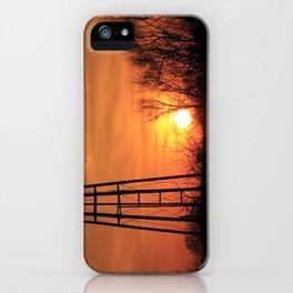 Kansas Windmill Silhouette Sunset iPhone Case