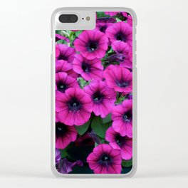 Vibrant Flowers Clear iPhone Case