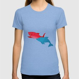 Red Shark and Dolphin T-shirt