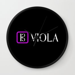 Viola with Alto Clef Wall Clock