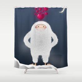 Yeti in love Shower Curtain