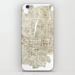 Jackson Mississippi watercolor city map iPhone Skin