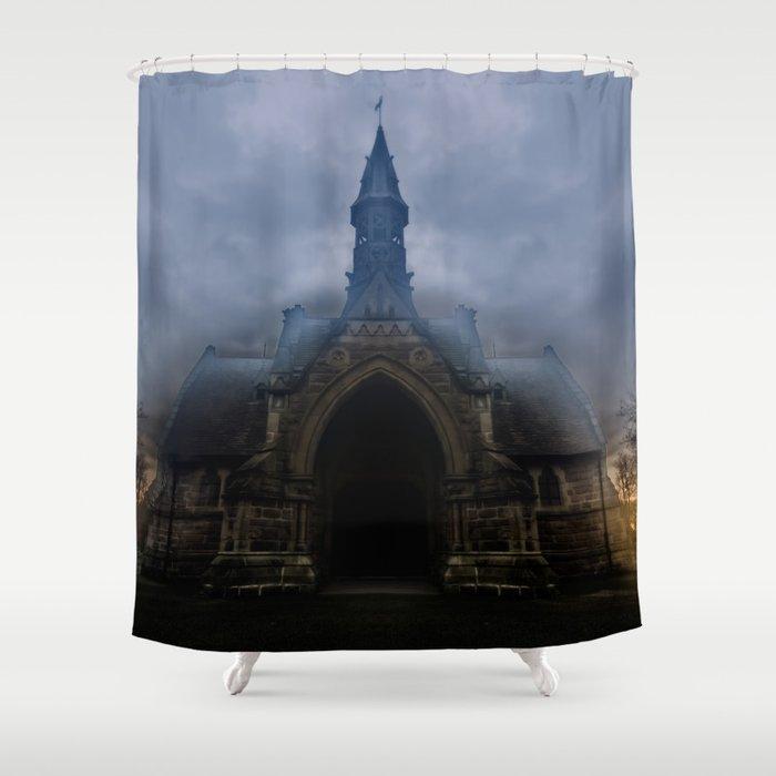 Graveyard shift Shower Curtain