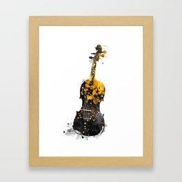 Violin music art gold and black #violin #music Framed Art Print