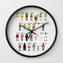 St_ar_Wars Alphabet 2 Wall Clock