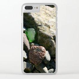 sea glass (green) Clear iPhone Case