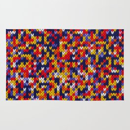 Knitted multicolor pattern 1 Rug