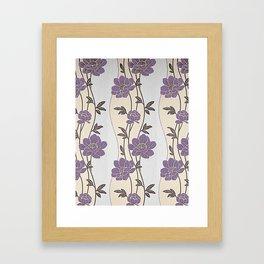 Purple Flower Garland Framed Art Print
