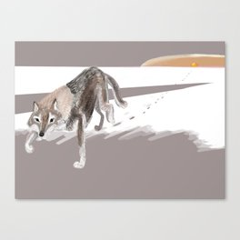 Totem Russian Wolf Canvas Print