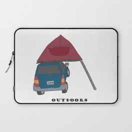 Camping Outdoors Digital Art Laptop Sleeve