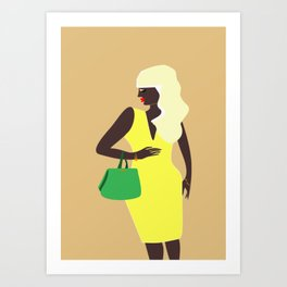 Boujee Lemonade Stands Art Print