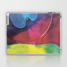 Blue yellow green abstract Laptop & iPad Skin