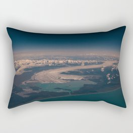 Aerial Glacier Three - Alaska Rectangular Pillow