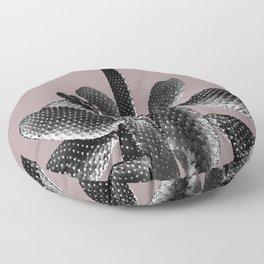 Black Mauve Cactus #1 #plant #decor #art #society6 Floor Pillow