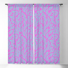V.16 - Striated Leaves - Bright Retro Punk Blackout Curtain