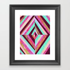 PATTERN {Diamond 001} Framed Art Print