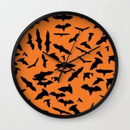 Bats Halloween Wall Clock