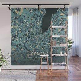Geneva, Switzerland - Cream Blue Wall Mural