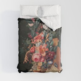 Roses Bloomed every time I Thought of You Duvet Cover