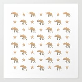 ELEPHANT & STARS Art Print