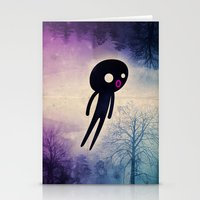onesie Stationery Cards featuring omino_ solitario by Marco Puccini