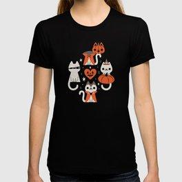 Halloween Kitties (Black) T-shirt