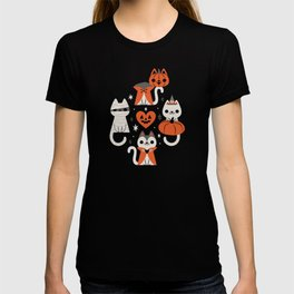Halloween Kitties (Black) T-shirt
