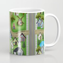 Tiny Cottages in a Tiny World Coffee Mug